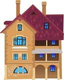 1 hus Arkivbilder