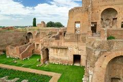 Hus av Augustus på den Palatine kullen i Rome Arkivfoto