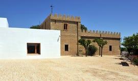 Hus av Blas Infante i Coria del Rio de Janeiro, Seville landskap, Andalusia, Spanien Royaltyfria Bilder