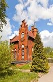 Hus av brovårdaren (1882) i Kaliningrad, Ryssland Arkivfoton
