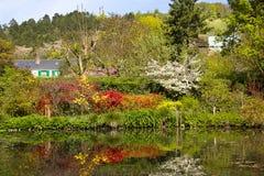 Hus av Claude Monet Arkivfoton
