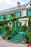 Hus av Claude Monet i Giverny Arkivfoton