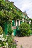 Hus av Claude Monet i Giverny Arkivbilder