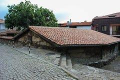 Hus av den gamla staden av Sozopol, Bulgarien Fotografering för Bildbyråer