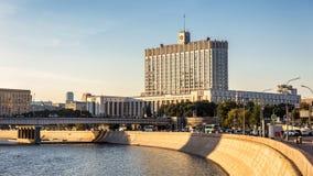 Hus av det regerings- från den ryska federationen, Moskva royaltyfria foton