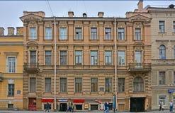 Hus av Ershov i eklekticismstil på Vasilyevsky Island i St Petersburg, Ryssland Fotografering för Bildbyråer