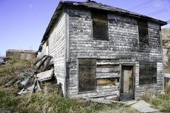Hus av fasor, Yellowknife, NWT Arkivbilder