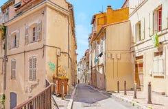 Hus av gamla Marseille Arkivfoton