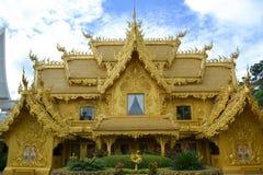 Hus av guld på Wat Rong Khun Royaltyfria Foton