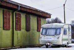 Hus av hjul Arkivbild