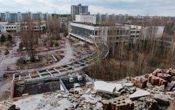 Hus av kultur Energetik på den Tjernobyl staden, Ukraina Abadoned Royaltyfri Foto