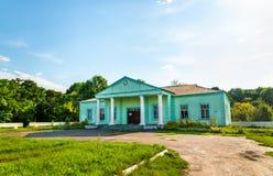 Hus av kultur i den Ostanino byn - Kursk region, Ryssland fotografering för bildbyråer
