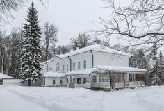 Hus av Leo Tolstoy i Yasnaya Polyana russia tula Slapp fokus Arkivbilder