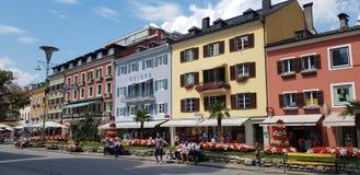 Hus av Lienz arkivbild