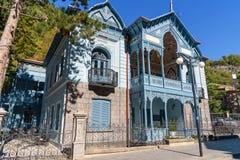 Hus av Mirza-Riza-Khan i Borjomi georgia Royaltyfri Bild