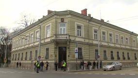 Hus av Moskva i Sofia, Bulgarien lager videofilmer