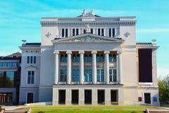 Hus av opera- och balettteatern i gamla Riga Arkivbilder