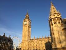 Hus av parlamentet, Big Ben, London Arkivfoton