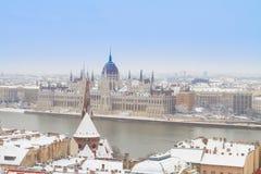Hus av parlamentet, Budapest, Ungern Royaltyfria Bilder