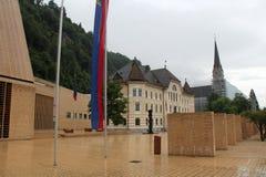 Hus av parlamentet i Vaduz, Liechtenstein royaltyfria bilder