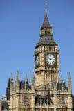 Hus av parlamentet, London, Big Ben klockatorn, lodlinje Royaltyfri Foto