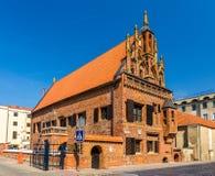 Hus av Perkunas i Kaunas, Litauen Arkivfoto