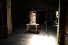 Hus av Pompei Arkivbild