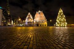 Hus av pormaskar på jul arkivfoto