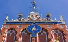 Hus av pormaskarna i Riga Royaltyfria Foton