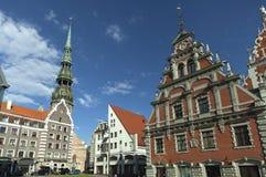 Hus av pormaskarna Riga royaltyfri bild