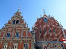 Hus av pormaskarna. Riga Royaltyfri Fotografi