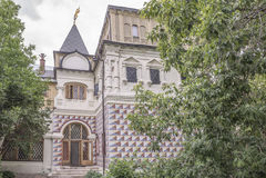Hus av Romanov boyars i Moskva Royaltyfria Foton