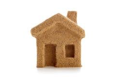 Hus av sand symbol Royaltyfri Foto