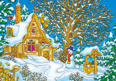 Hus av Santa Claus Arkivbilder