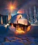 Hus av Santa Claus Fotografering för Bildbyråer