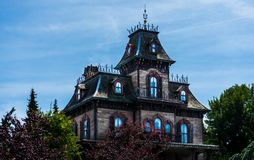 Hus av skräckdragningen royaltyfria bilder