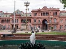 Hus Buenos Aires Argentina för CasaRosada rosa färger Royaltyfria Bilder