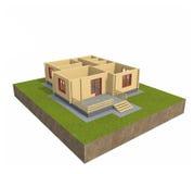 hus 3d Arkivfoto