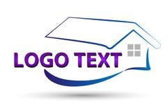 Hus eller hem- logodesign Fotografering för Bildbyråer