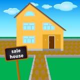 Hus erbjudet till salu royaltyfri illustrationer