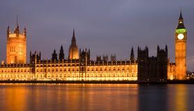 hus exponerade den london parlamentet Arkivfoton