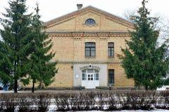 Hus för arbets- utbyte för Vilnius stad i den Zirmunai områdesNord staden Arkivbild