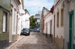 Hus för byggnader för den gamla stadsEuropa smala gatan fördärvar gamla Arkivbild