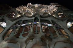 Hus för CasaBatllo fasad. Barcelona gränsmärke, Spanien. Arkivbilder