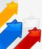 hus för datalista för pilbakgrund färgat vektor illustrationer