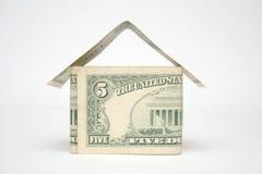hus för dollar fem Arkivbilder