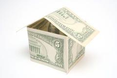 hus för dollar fem Arkivbild