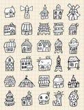 hus för drawelementhand Arkivbild