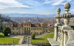 Hus för drottning` s i Torino Turin Italien Piedmont arkivfoto
