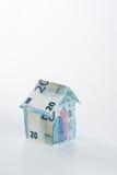 20 hus för eurosedel 2015 Arkivfoto